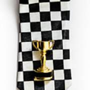 Motor Sport Racing Tie And Trophy Art Print