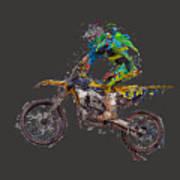 Motorbiker Art Print