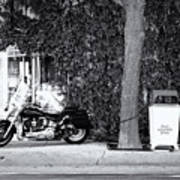 Motorcycle In Big Spring Tx Art Print