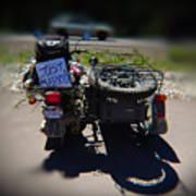 Motorcycle Love Story Art Print