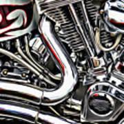 Motorcycle Reds Art Print