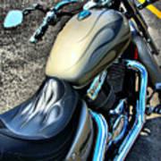 Motorcycle Shadow Sabre 2 Art Print