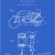Motorcycle Sidecar Patent 1912 - Blueprint Art Print