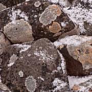 Mottled Stones Art Print