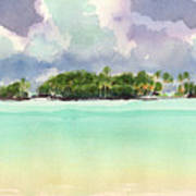 Motu Rapota, Aitutaki, Cook Islands, South Pacific Art Print