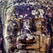 Mould Damage At Angkor Thom Art Print