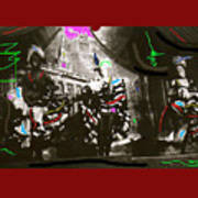 Moulin Rouge Homage Diamond Tooth Gerties Chorus Line Dawson City Yukon Territory Canada 1977-2008 Art Print