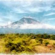 Mount Agung On The Island Paradise Of Bali Art Print