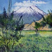 Mount Ararat North Eastern Anatolia Turkey 2006  Art Print