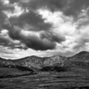 Mount Bierstadt Black And White Art Print