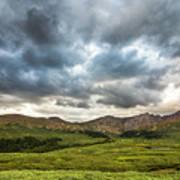 Mount Bierstadt Cloudy Evening 2x1 Art Print