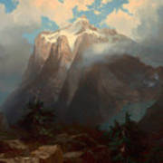 Mount Brewer From King's River Canyon - California Art Print