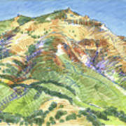 Mount Diablo From Curry Valley Ridge Art Print