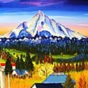 Mount Hood River Valley #1. Art Print