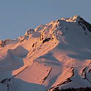 Mount Hood Sunset Glow Art Print