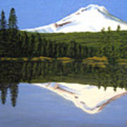Mount Hood-trillium Lake Art Print