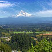 Mount Hood View From Backyard Deck Art Print