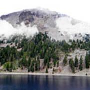 Mount Lassen Volcano In The Clouds Art Print