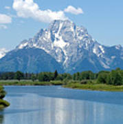 Mount Moran At Oxbow Bend Art Print