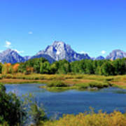 Mount Moran, Grand Tetons National Park, Wyoming  Art Print