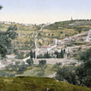 Mount Of Olives, C1900 Art Print