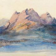 Mount Pilatus From Lake Lucerne, Switzerland Art Print