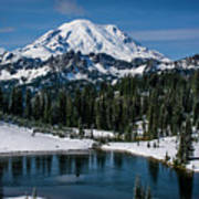 Mount Rainier - Tipsoo Lake Art Print