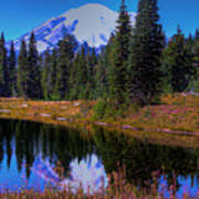Mount Rainier And Tipsoo Lake Art Print