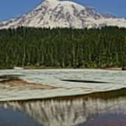 Mount Rainier Reflection Lake Art Print