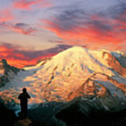 July In Washington, Mount Rainier National Park Art Print