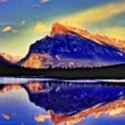 Mount Rundle Reflection Art Print