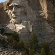 Mount Rushmoore Detail - Abraham Lincoln  Art Print