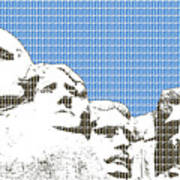 Mount Rushmore - Blue Art Print