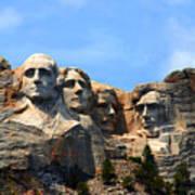 Mount Rushmore In South Dakota Art Print