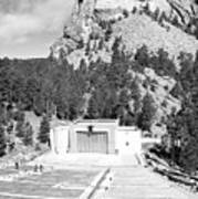 Mount Rushmore National Monument Amphitheater South Dakota Black And White Art Print