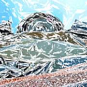 Mount Saint Auto Crush Art Print