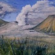Mount Semeru Bromo And Batok Jawa Timor Indonesia 2008 Art Print