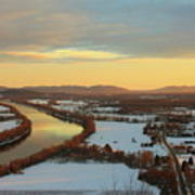 Mount Sugarloaf Winter Sunset Art Print