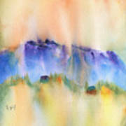 Mountain And Hill Abstract Art Print