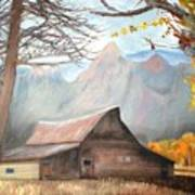 Mountain Barn Art Print