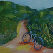 Mountain Biking In The Santa Monica Mountains Art Print