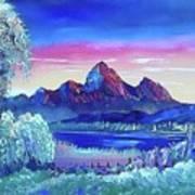 Mountain Dreams Meow Art Print