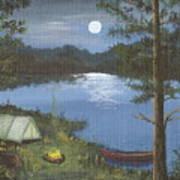Mountain Fish Camp Art Print