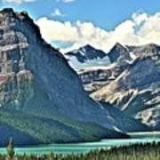 Mountain Glacier And Lake  Art Print