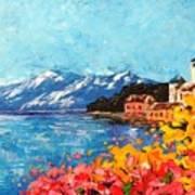 Mountain Lake In Italy Art Print
