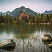 Mountain Lake Under Peaks Art Print