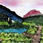 Mountain Lake Walk Art Print