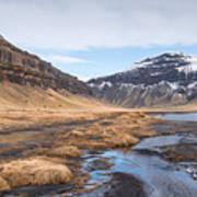 Mountain Landscape Iceland Art Print