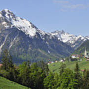 Mountain Landscape In The Austrian Alps Art Print