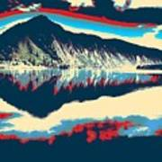 Mountain  Landscape Poster Art Print